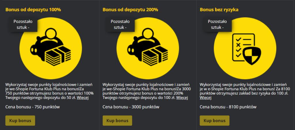 Sklep Fortuny z bonusami
