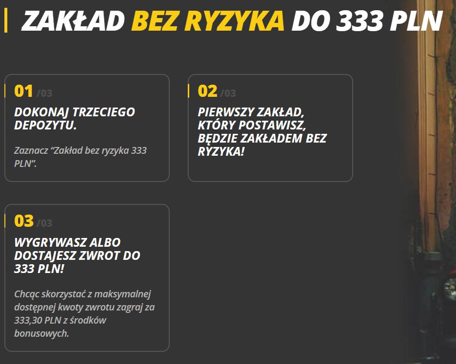 Cashback do 333 PLN w LV BT
