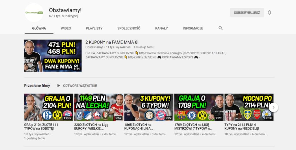 typy piłkarskie obstawiamy na youtube